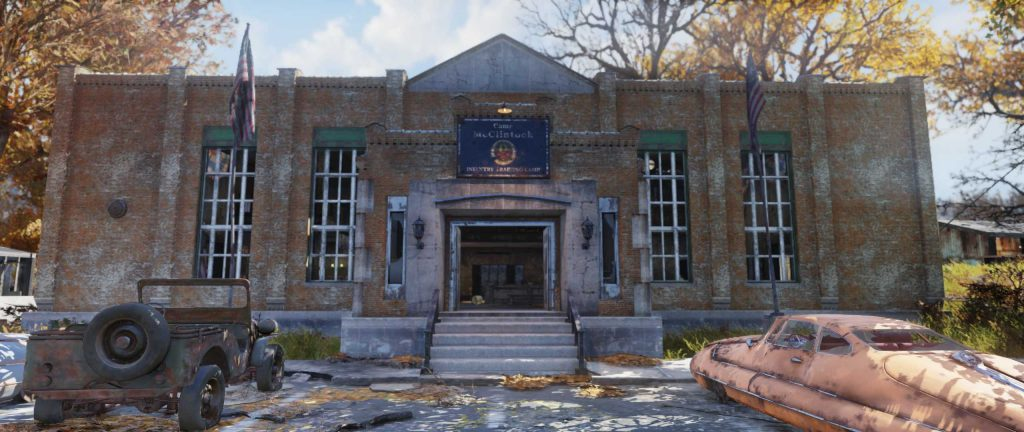 Fallout 76 Camp McClintock Screen