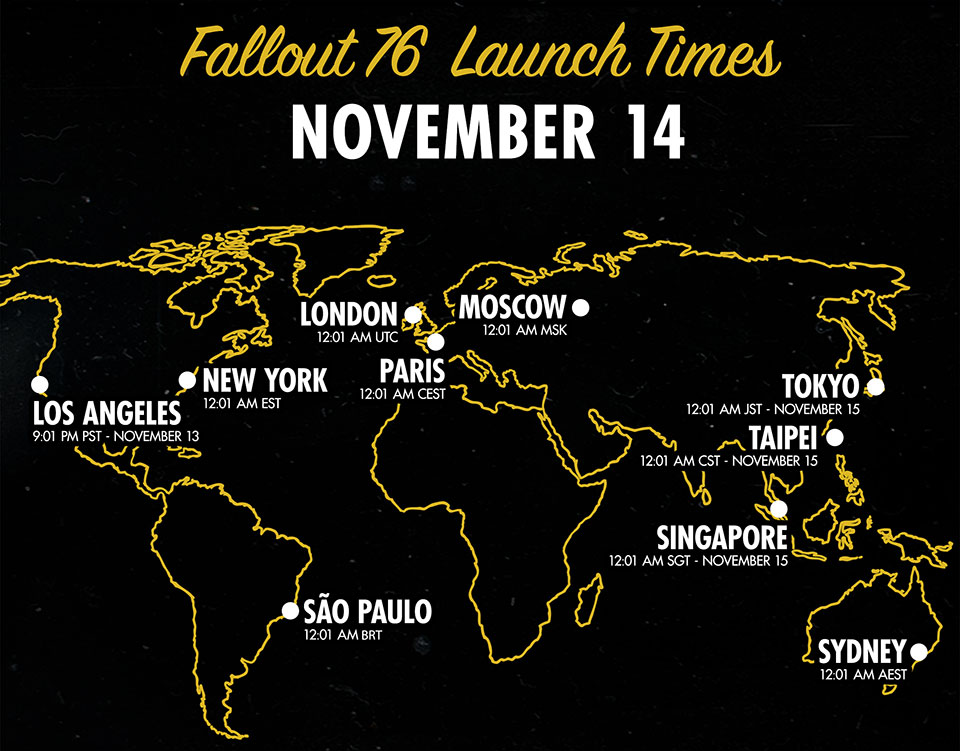 Fallout 76 Global Launch Grafik