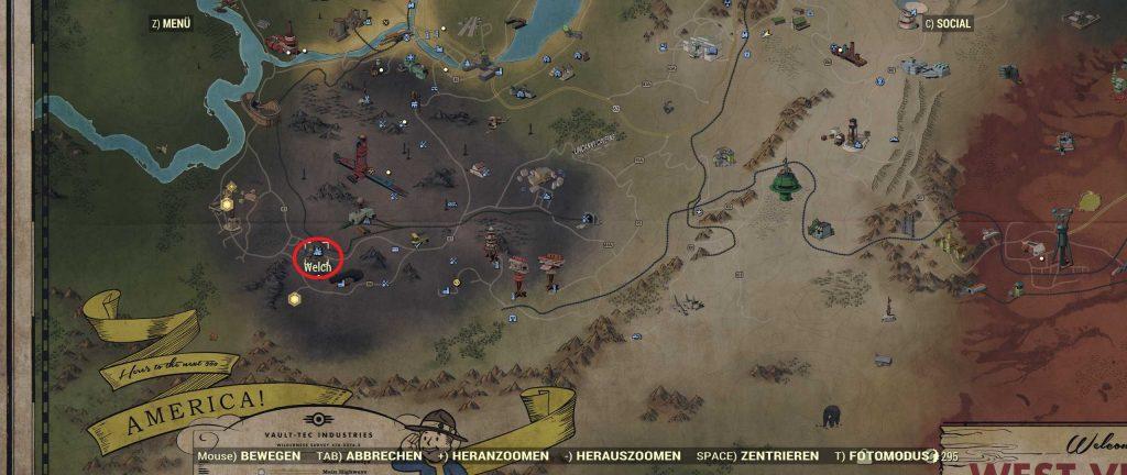Fallout 76 Karte Welch