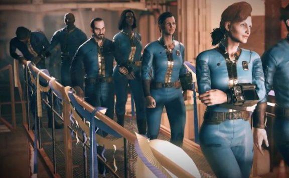 Fallout 76 Menschen gehen in die Vault 2 Titel