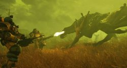 Fallout 76 Power Armor bekämpft Brandbestie Titel