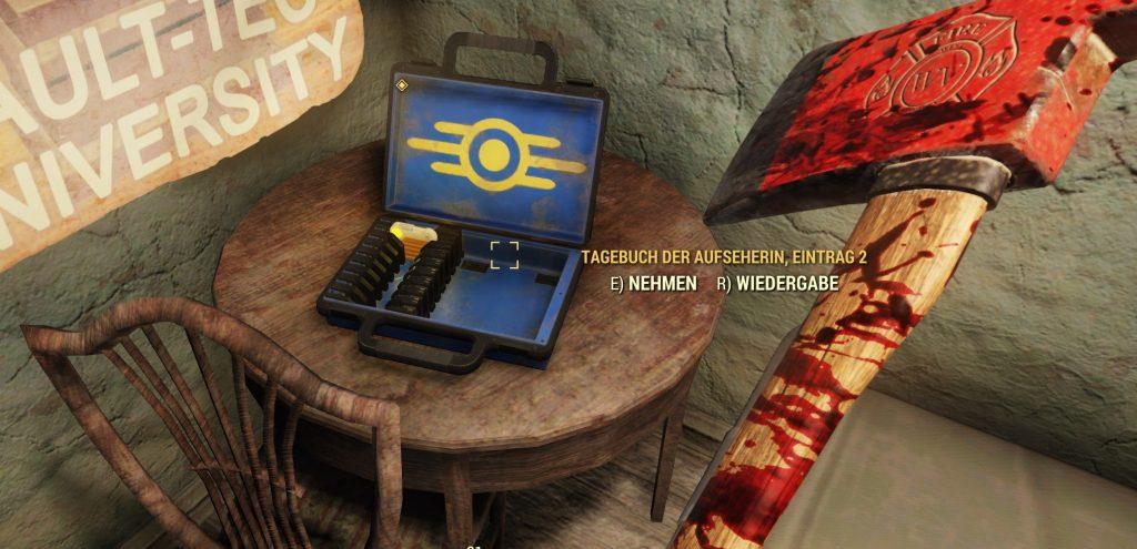 Fallout 76 Tagebuch