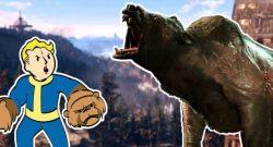 Fallout 76 Vault Boy kämpft mit Yao Guai Titel 2