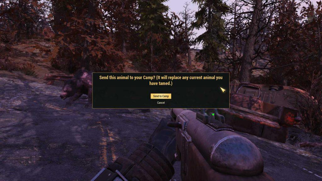 Fallout 76 gezähmter yao guai