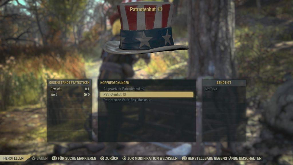 Fallout 76 tricentennial hut