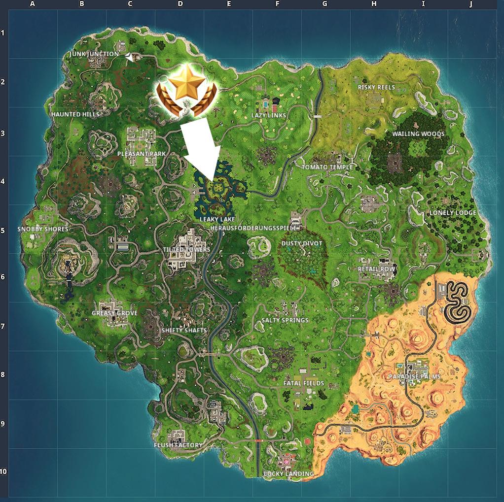 Fortnite Stern Woche 9 Map