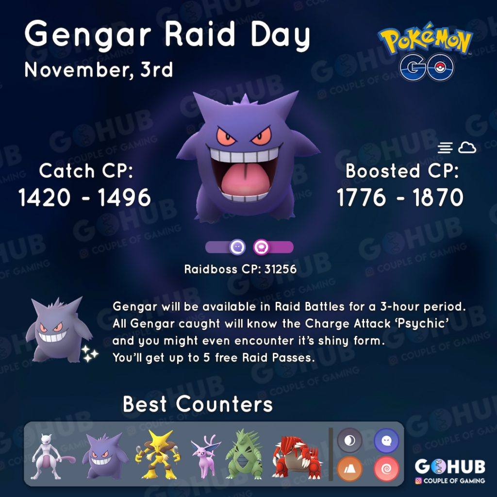 Gengar Tag Grafik Pokemon GO