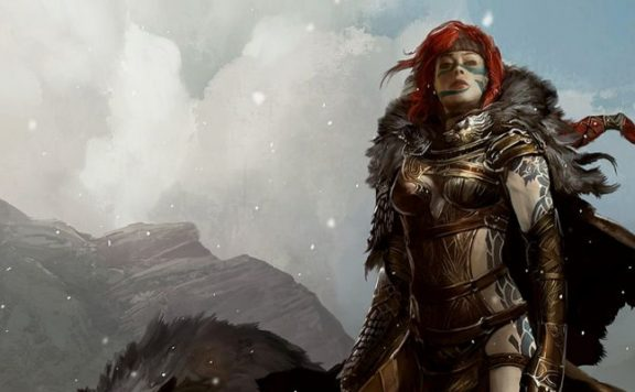 Guild Wars 2 title Woman Redhead