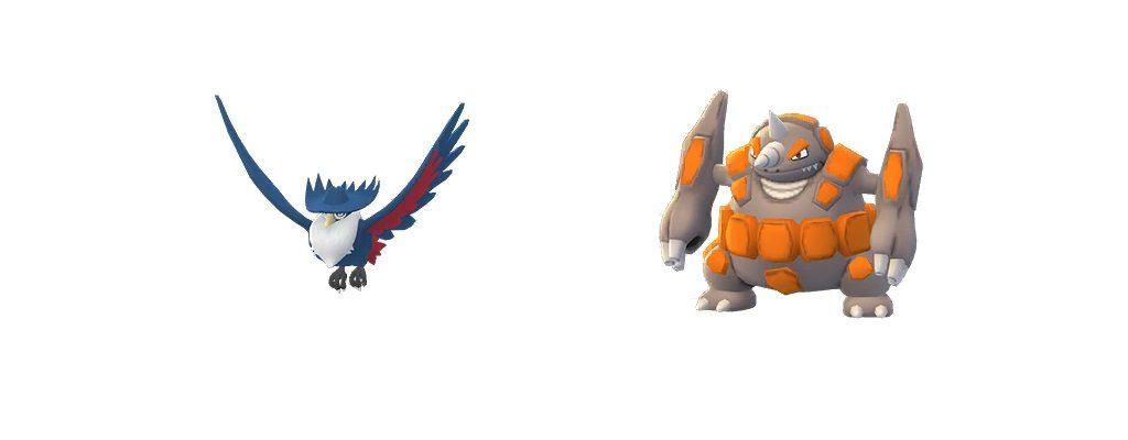 Kramshef und Rihornior Pokémon GO