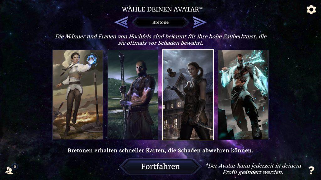 Legends Avatarwahl