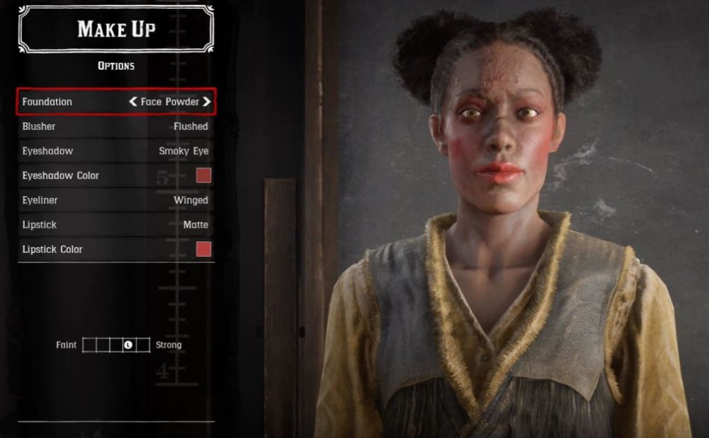 Red Dead Online Makeup Frau