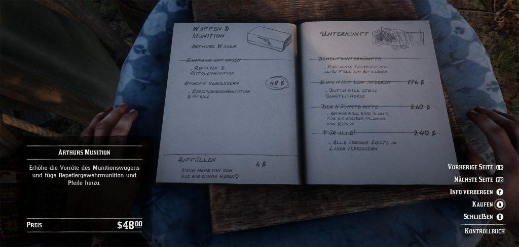 Red Dead Redemption 2 Kontrollbuch Schnellreise