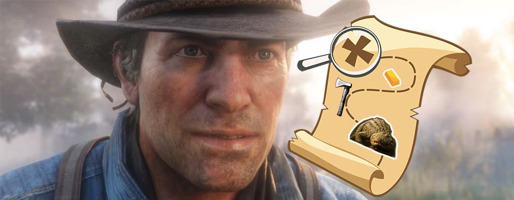 Red Dead Redemption 2 Map Zeigt Orte Von Waffen Und Schätzen