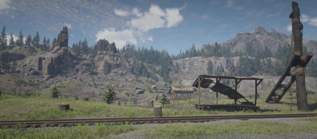 Red Dead Redemption 2 Wald Baumstumpf