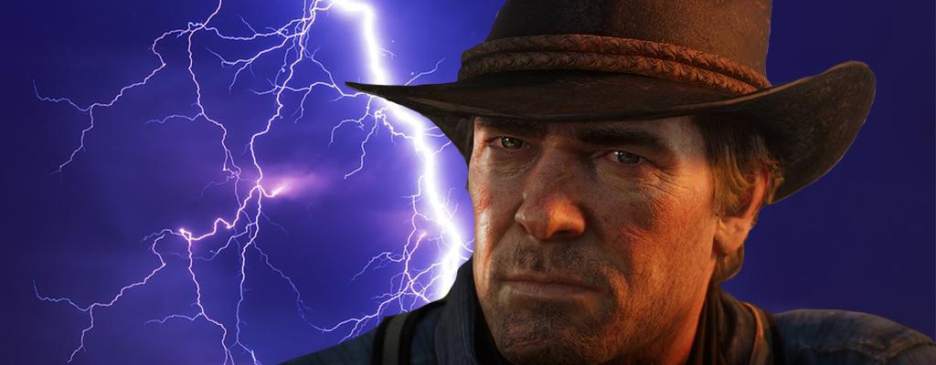 In Red Dead Redemption 2 könnt Ihr vom Blitz getroffen werden