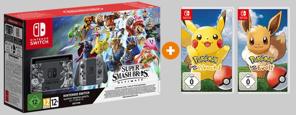 Saturn.de bietet Pokémon Let's Go zum halben Preis bei Switch-Kauf