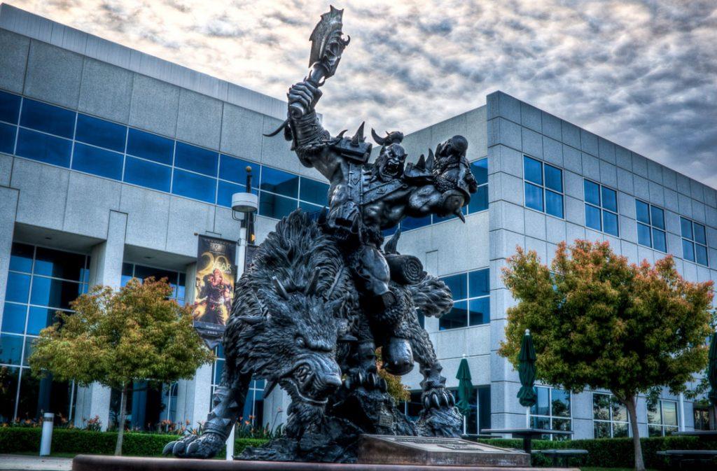 Blizzard Campus Orc Statue