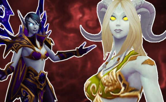 WoW Allied Races Void Elf Lightforged Draenei Title