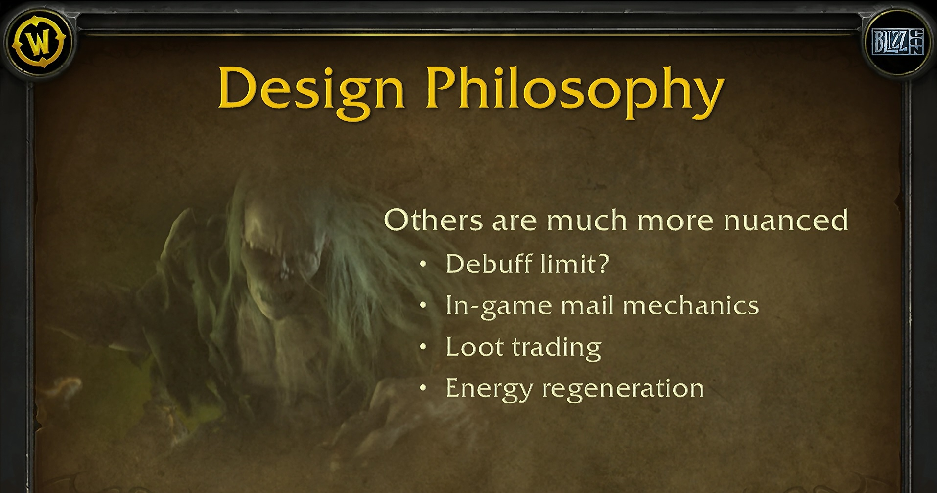 WoW Design Philosophy Debuff Limit