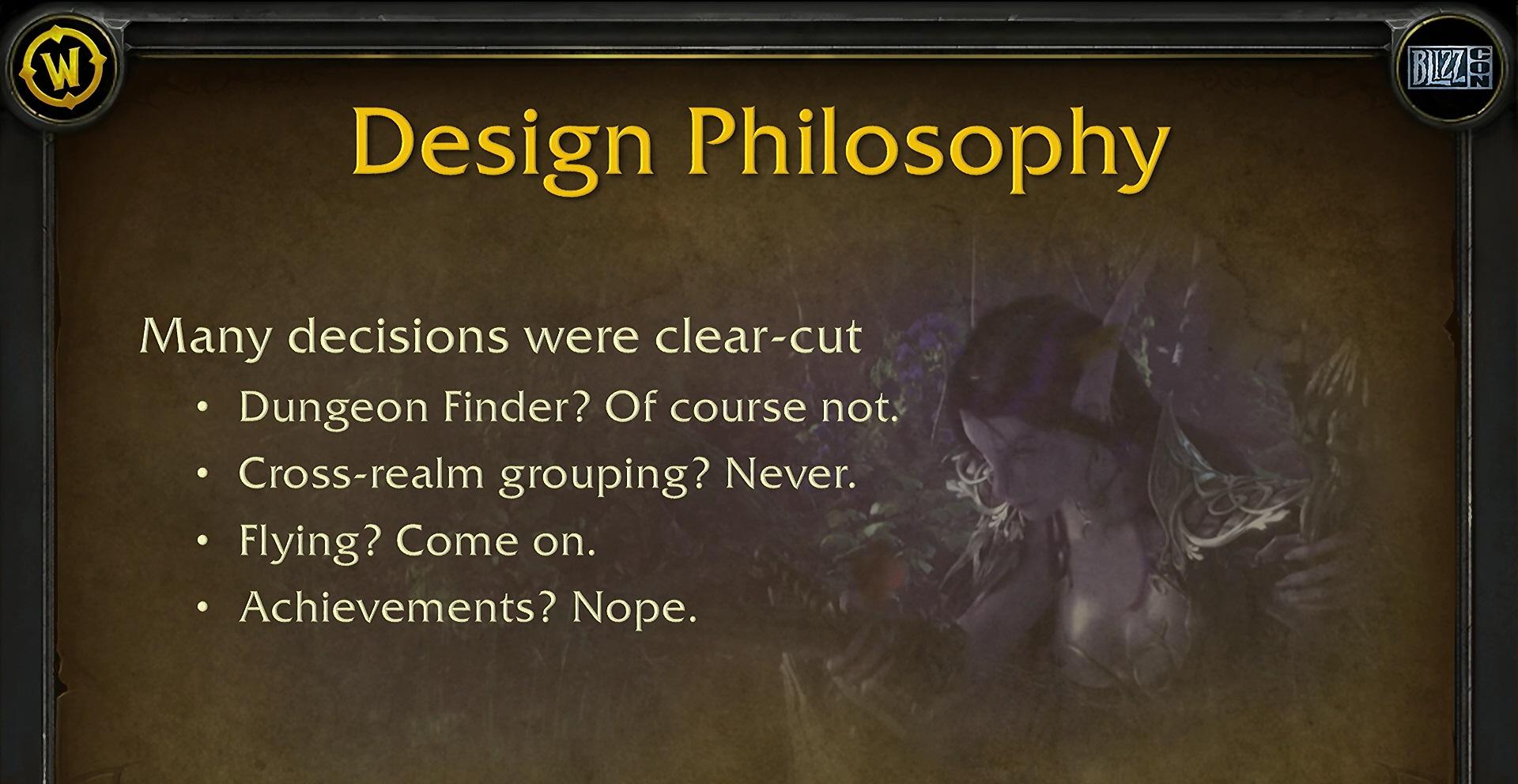 WoW Design Philosophy Dungeon Finder