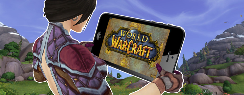 WoW Female Mage Mobile Game Warcraft title