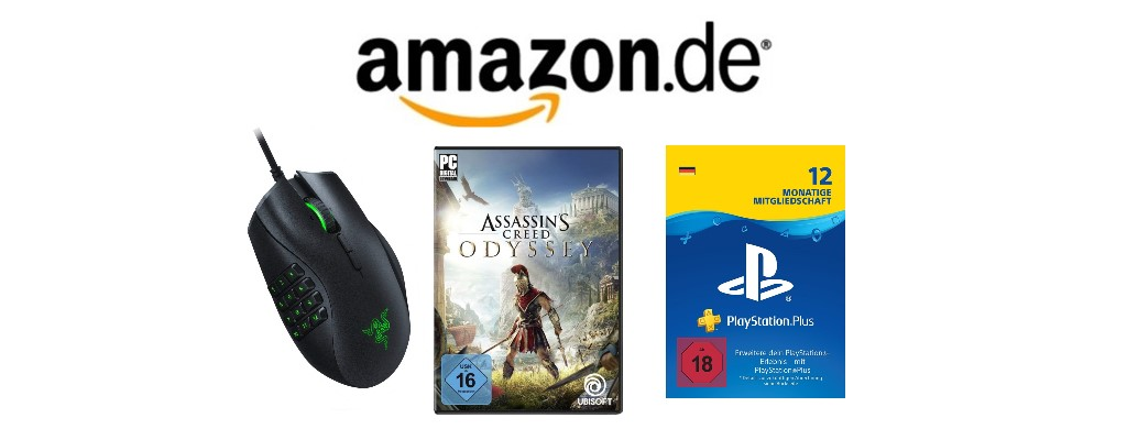Amazon: Razer-Hardware, Assassin's Creed Odyssey & PS Plus reduziert