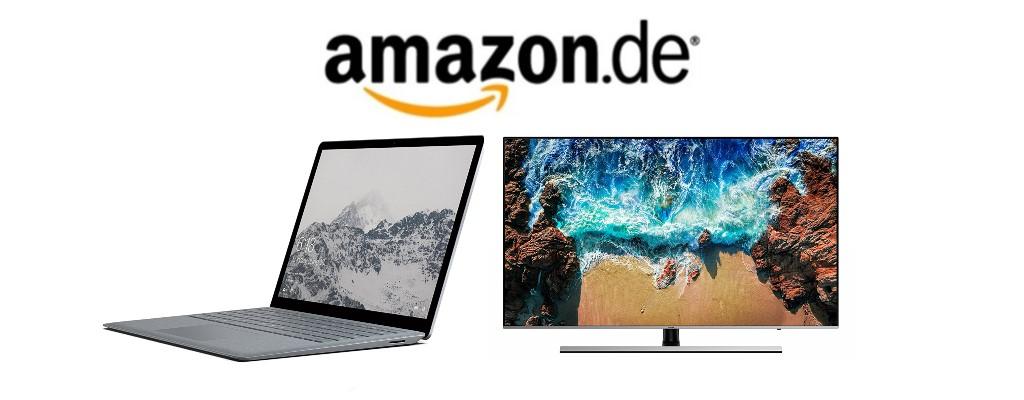 Amazon Cyber Week: Countdown mit Surface Laptop & Samsung-UHD-TVs