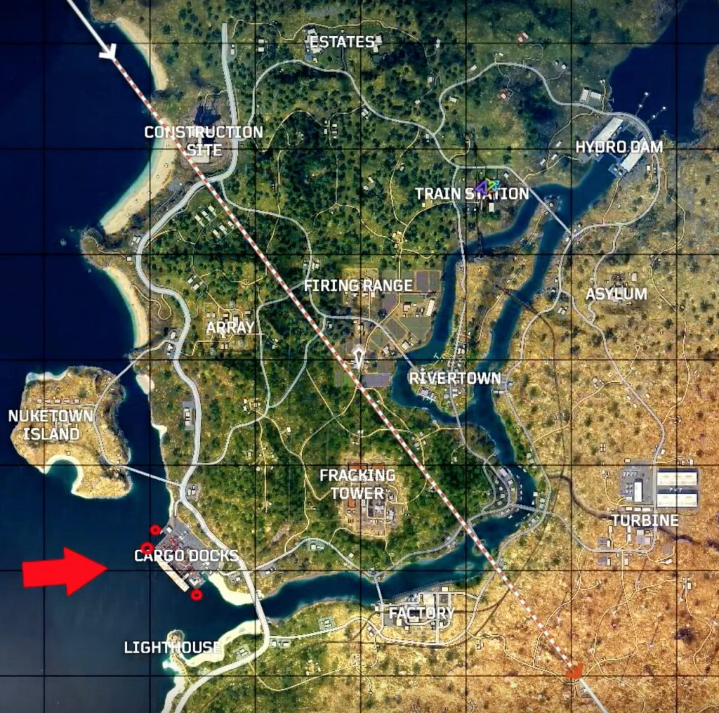 cod blops 4 cargo docks chest location