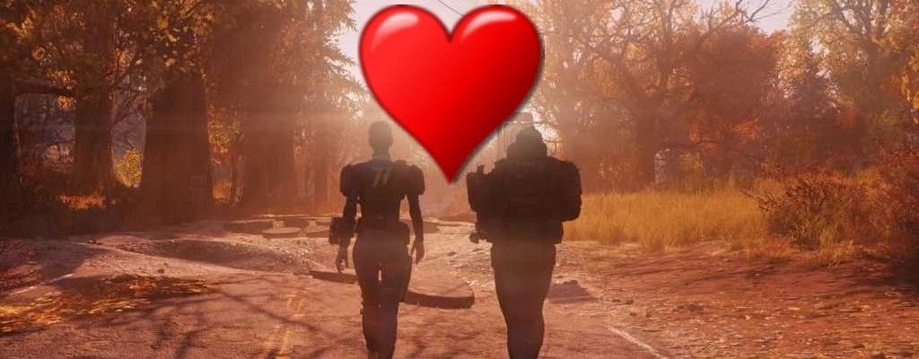 Fallout 76 Spieler mit Herz