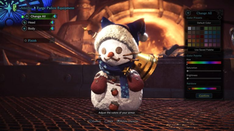 monster hunter world palico winter