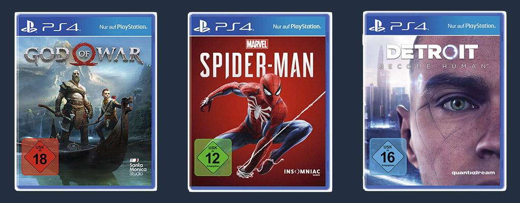 PS4-Angebote der Cyber Week: God of War, Spider-Man und PS VR