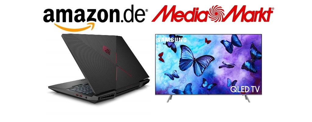 Gaming-Notebook bei Amazon – UHD-TV bei MediaMarkt reduziert