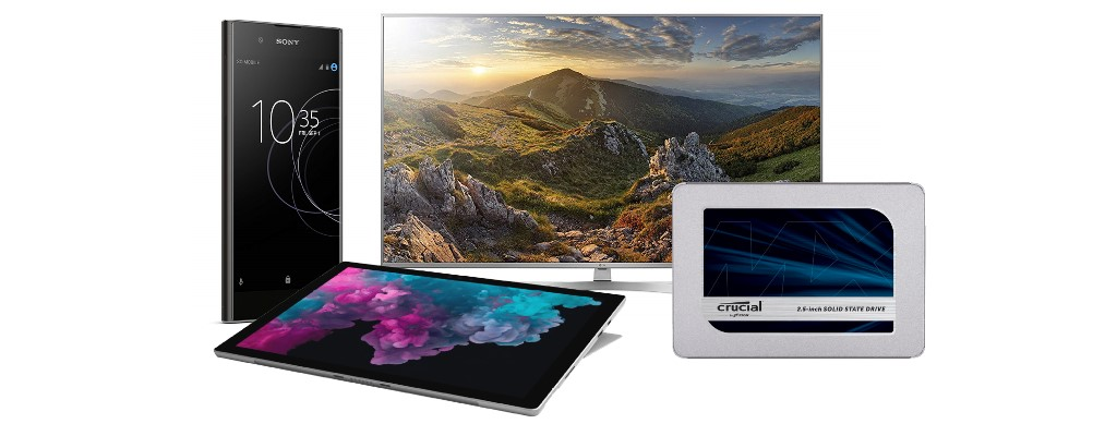 Amazon: Surface Pro 6, Xperia A1 Plus, LG-TVs & Crucial-SSDs reduziert