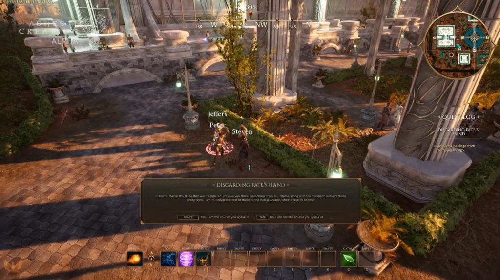 Ashes of Creation Quest Interface