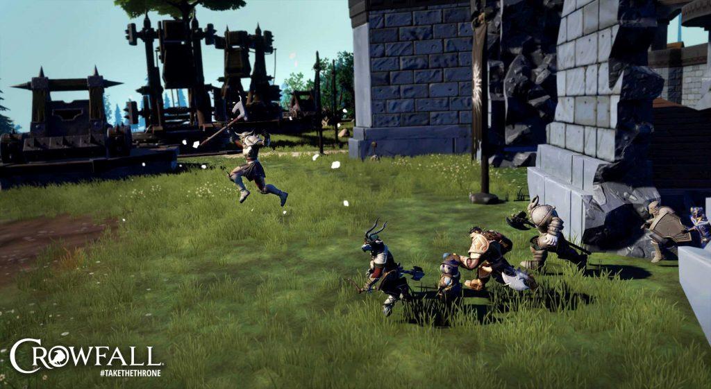 Belagerungen im MMORPG Crowfall.