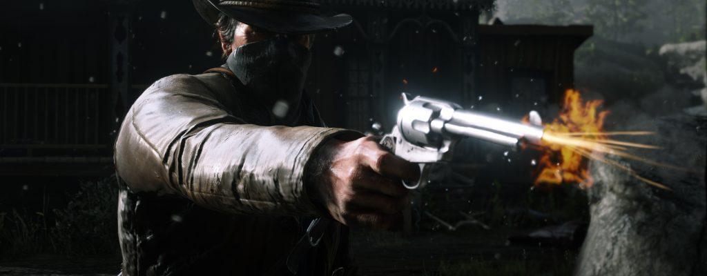 Red Dead Online Überfall Waffe Schießen