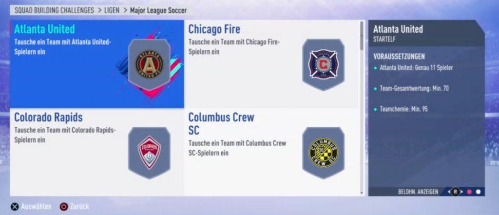 FIFA 19 Liga SBC MLS