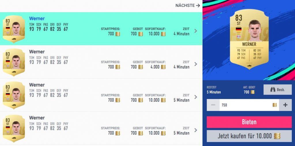 FIFA 19 Trading Werner