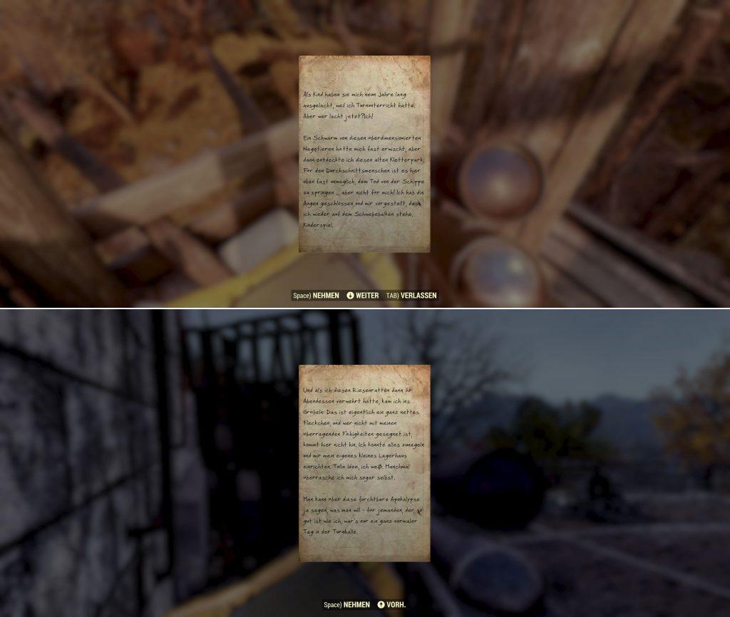 Fallout 76 Brief von Tumblin Joe