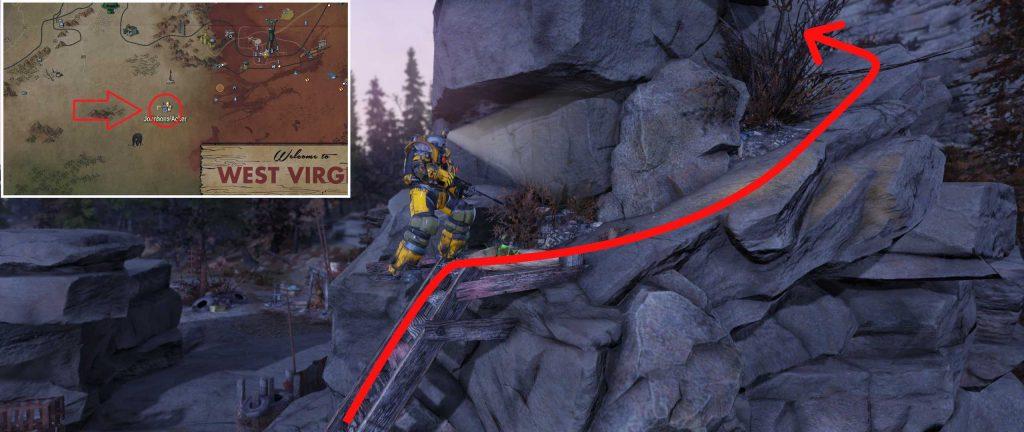Fallout 76 Weg zum Leichenkatapult