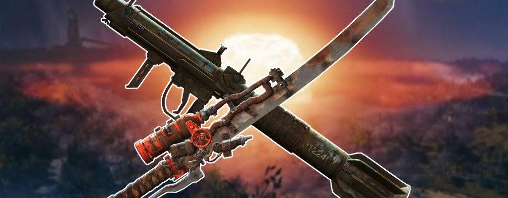 Fallout 76 legendäre Waffen überkreuzt