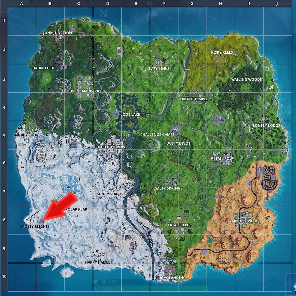Fortnite Karte Pfeil 2