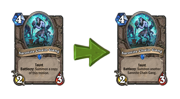 Hearthstone Nerf Saronite Chain Gang