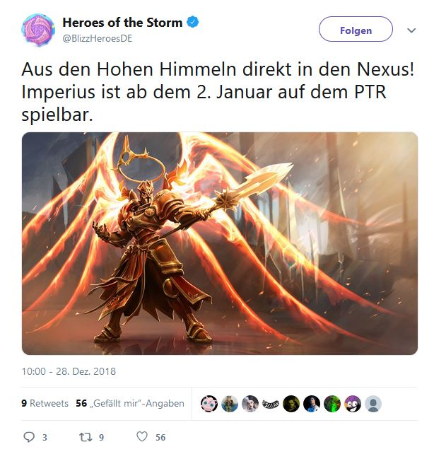 Heroes of the Storm Imperius Twitter