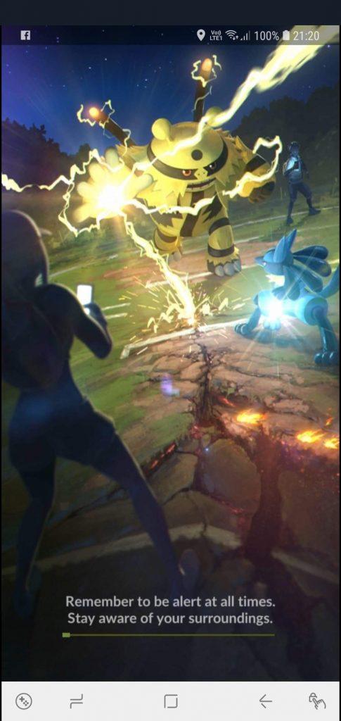 Ladebildschirm Pokemon GO