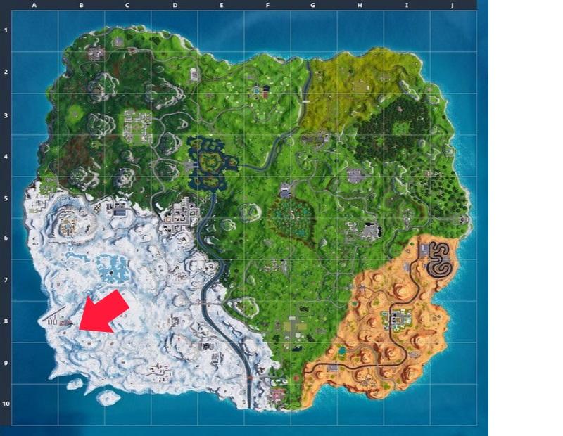 Map Fortnite Pfeil