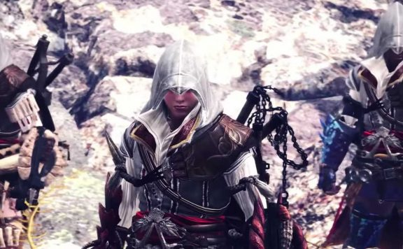 Monster Hunter World Assassins Creed Mäntel Titel