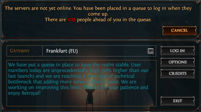Path of Exile Login Queue