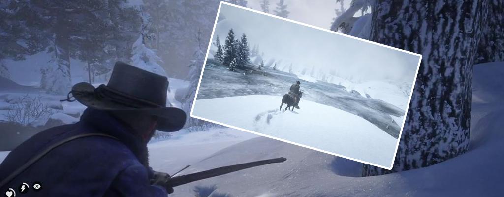 Red Dead Redemption 2: Spieler findet neuen Eis-See hinter der Grenze