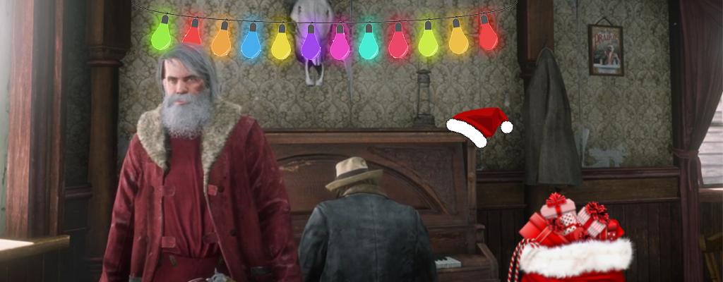 Red Dead Online Weihnachten Saloon Titel